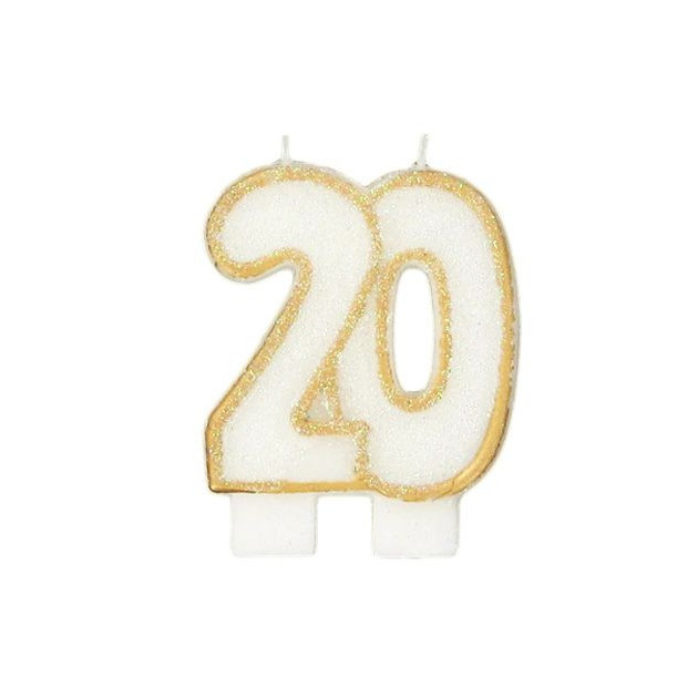 Bougie Anniversaire 20 ans Gatodeco