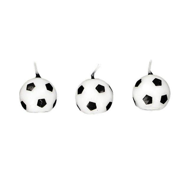 Bougies Ballons de Football (x6) Gatodeco