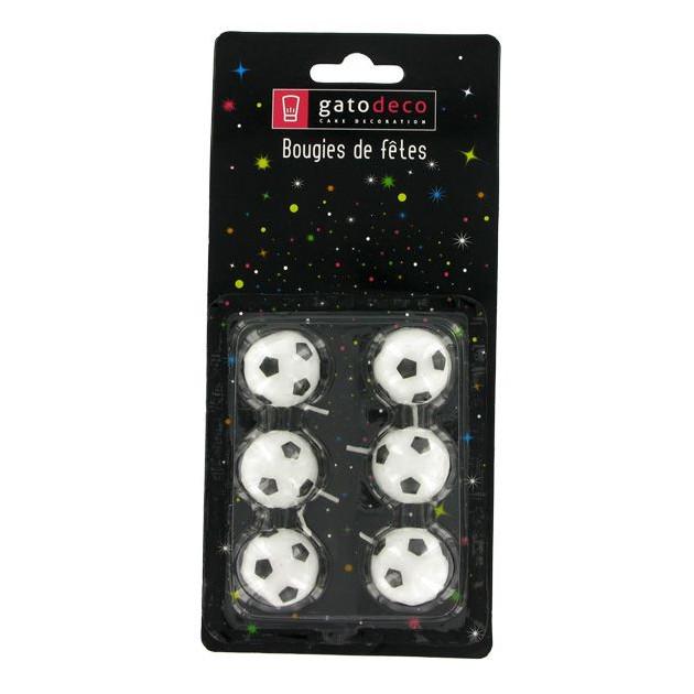 Lot de 6 Bougies Bougies Ballons de Football