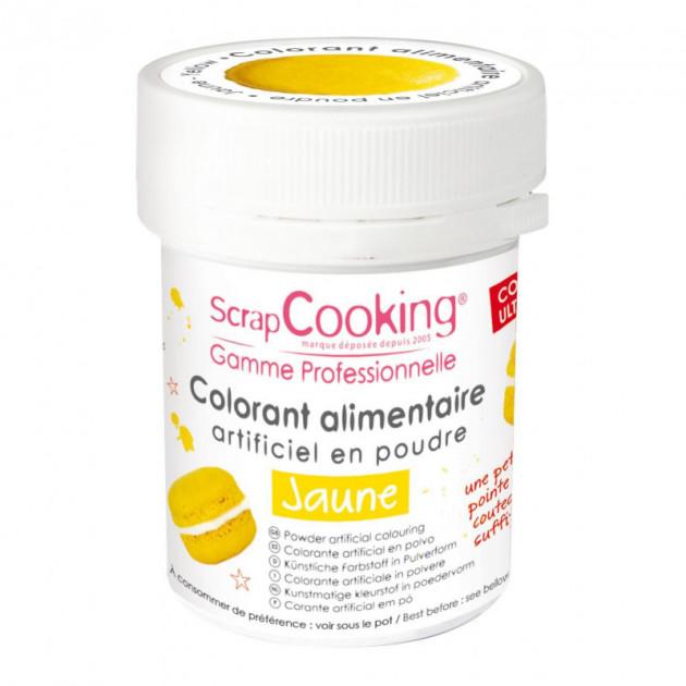 Colorant Alimentaire en Poudre Jaune 5g Scrapcooking