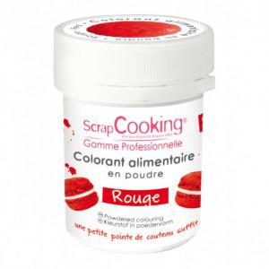 Colorant Alimentaire en Poudre Rouge 5g Scrapcooking