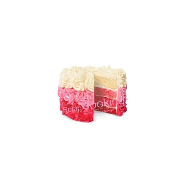 Gateau realise avec du colorant alimentaire en poudre Rouge Scrapcooking