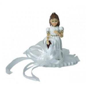 Sujet Communion Fille Ruban Blanc 10 cm