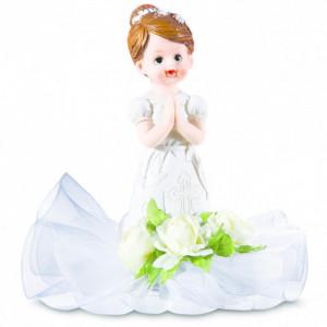 Sujet Communion Fille Prie-dieu 15 cm
