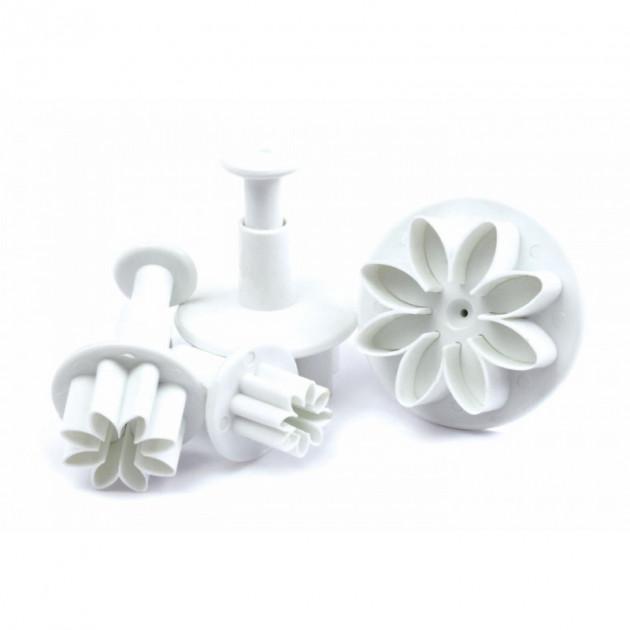 4 Emporte-Pieces Fleur a Poussoir Scrapcooking