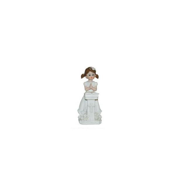 Sujet Communion Fille Prie-dieu 11 cm