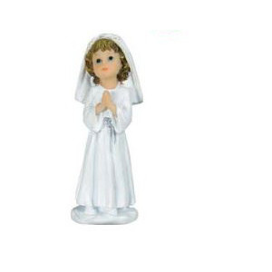 Sujet Communion Fille Aube Blanche 10 cm