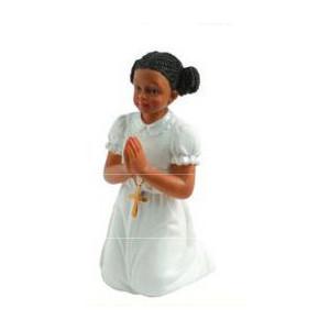 Sujet Communion Fille Métisse 11 cm