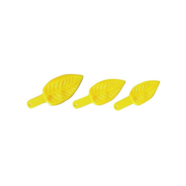Empreinte Feuille plastique (x3)