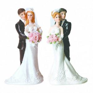 Figurine Mariage Mariés 4 Modèles 12,5 cm