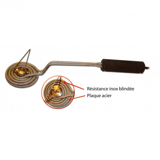 Fer a carameliser electrique Professionnel Ø 9.5 cm