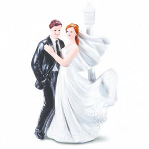 Figurine Mariage Mariés Romantique 2 Modèles 17,5 cm