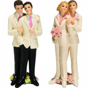 Figurine Mariage Gay 2 Modèles 13 cm