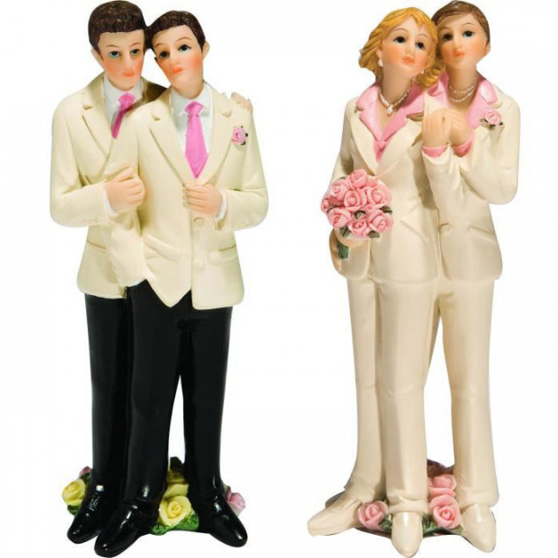 Figurine Mariage Gay 2 Modeles Couple Gay Femmes 13 cm