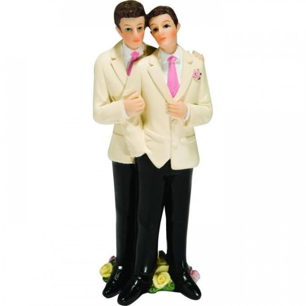 Figurine Mariage Gay 2 Modeles Couple Gay Hommes 13 cm