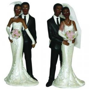Figurine Mariage Mariés Métisses 2 Modèles 13 cm