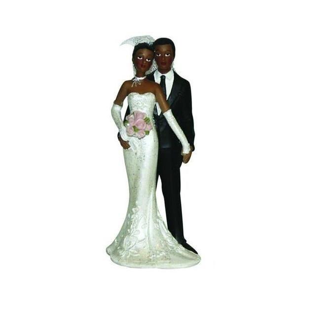 Figurine Mariage Maries Metisses 2 Modeles 13 cm