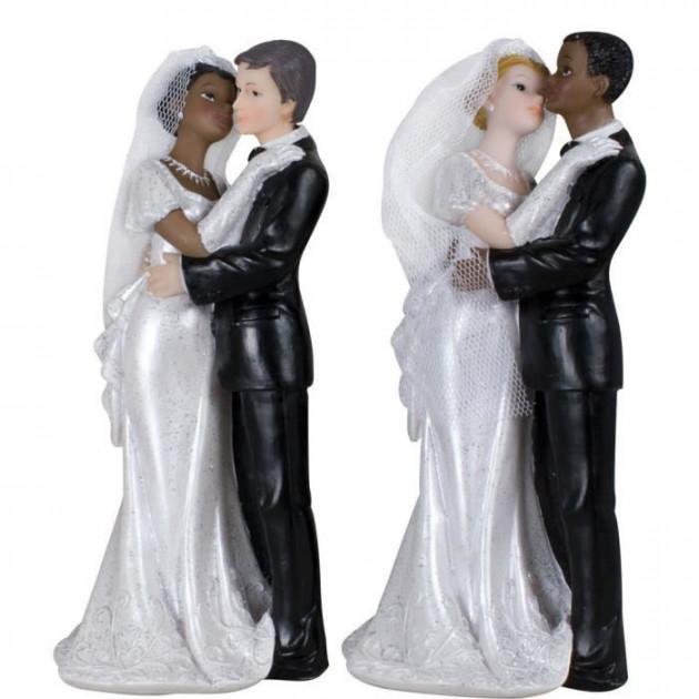 Figurine Mariage Mixte 2 Modeles 18 cm