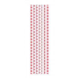 Pailles Coeurs Carton (x20) Scrapcooking