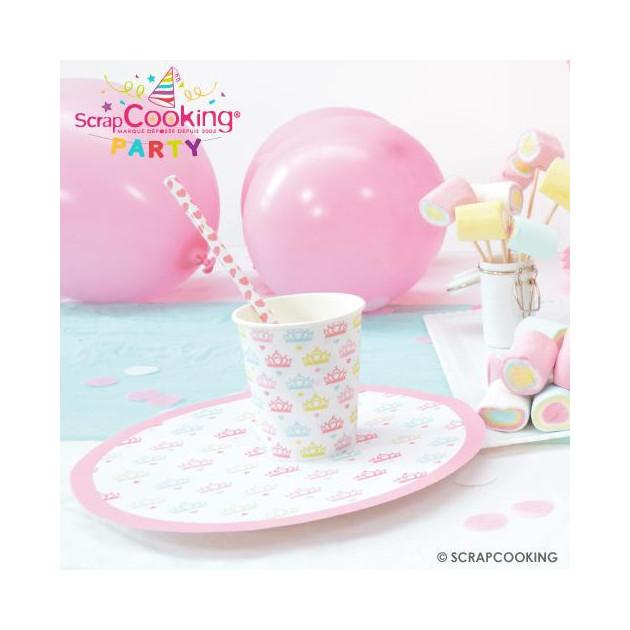 Presentation de la collection Scrpacooking Party (Princesse party) (articles vendus separement)