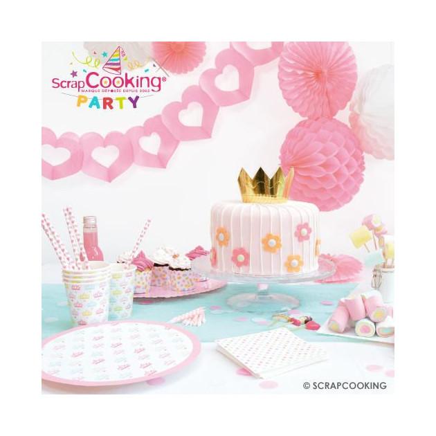 FIN DE SERIE Presentation de la collection Scrpacooking Party (Princesse party) (articles vendus separement)