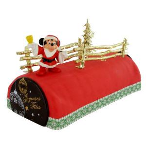 Kit Décor Gâteau Mickey Noël (4 pièces)