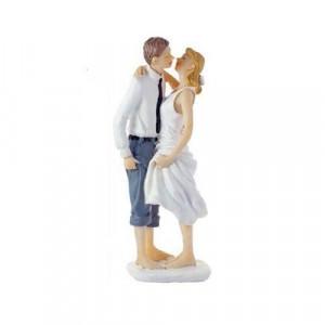 Figurine Mariage Les Pieds dans l'Eau 14,5 cm