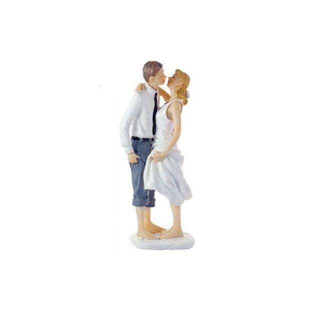 Figurine Mariage Originale Les Pieds dans l'Eau 14.5 cm