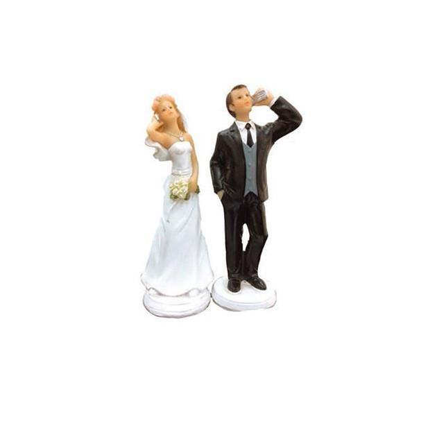 Figurine Mariage Humoristique Accro au Telephone 15 cm