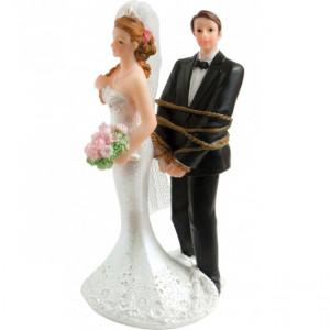 Figurine Mariage Marié Ligoté 13 cm