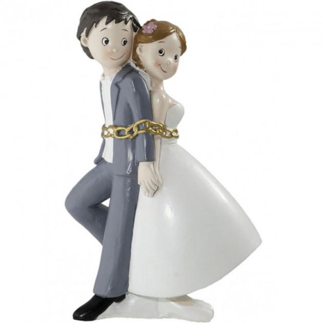 Figurine Mariage Couple Enchaîne 15 cm