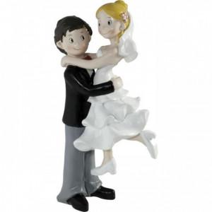 Figurine Mariage Couple Enlacé 15 cm