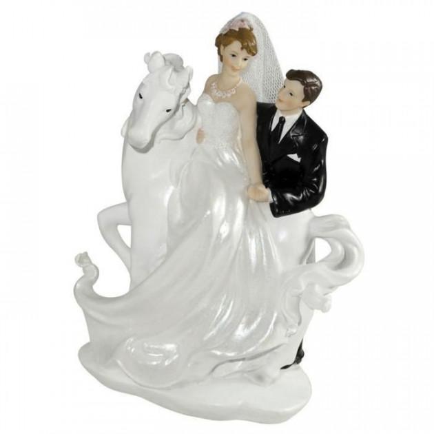 Figurine Mariage Cheval Blanc 20 cm