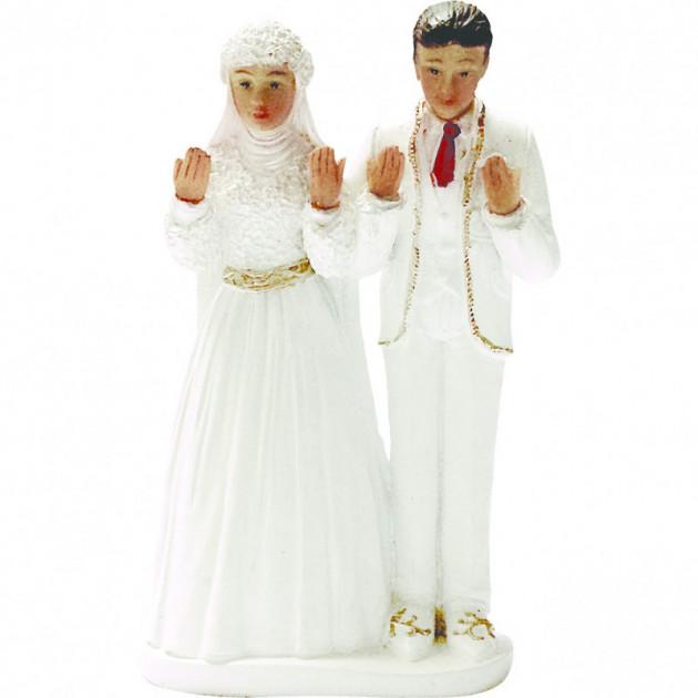 Figurine Mariage Couple Oriental 14.5 cm
