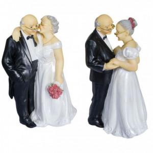 Figurine Anniversaire de Mariage Couple 2 Modèles 16 cm
