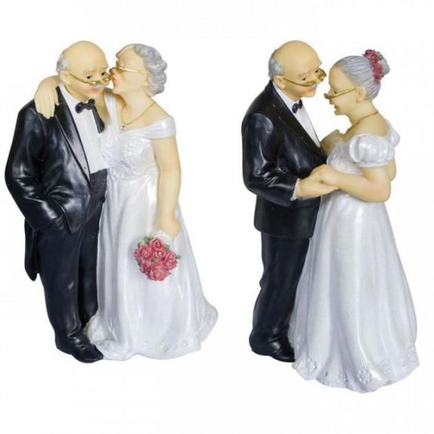 Figurine Anniversaire de Mariage Couple 2 Modeles 16 cm