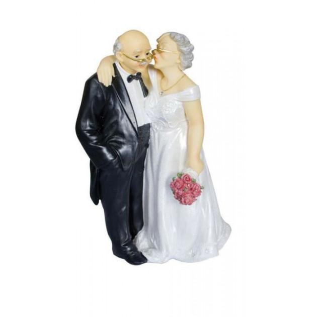 Figurine Mariage Couple Age Renouvellement de voeux 16 cm