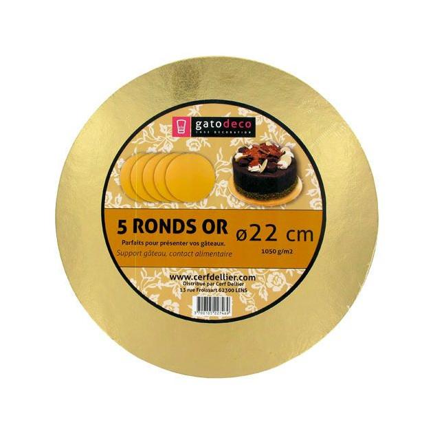 Ronds Dores Ø 21.7 cm (x5) Gatodeco