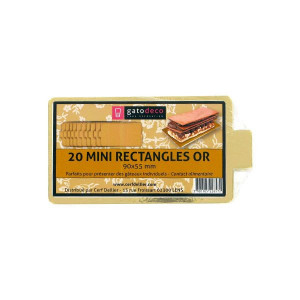 Mini-Rectangles Dorés 9 x 5,5 cm (x20) Gatodéco