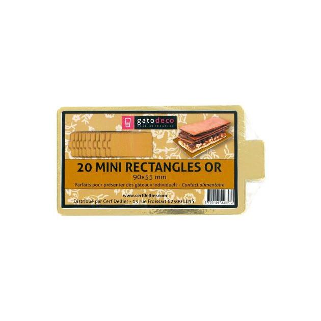 Mini-Rectangles Dores 9 x 5.5 cm (x20) Gatodeco