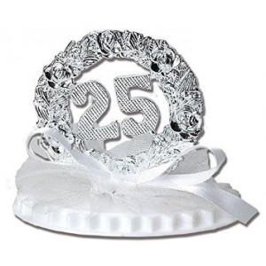 Figurine Anniversaire de Mariage Noces d'Argent 7,5 cm