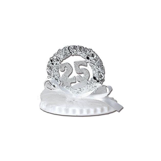 Figurine Anniversaire de Mariage Noces d'Argent 7.5 cm