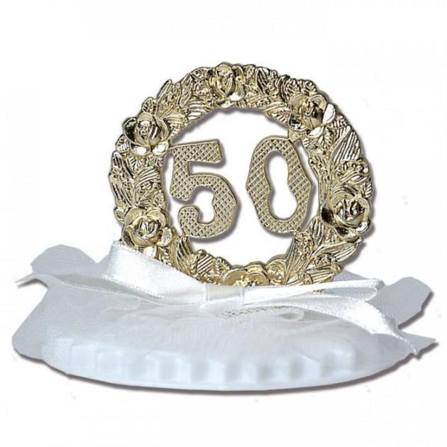 Figurine Anniversaire de Mariage Noces d'Or 7.5 cm