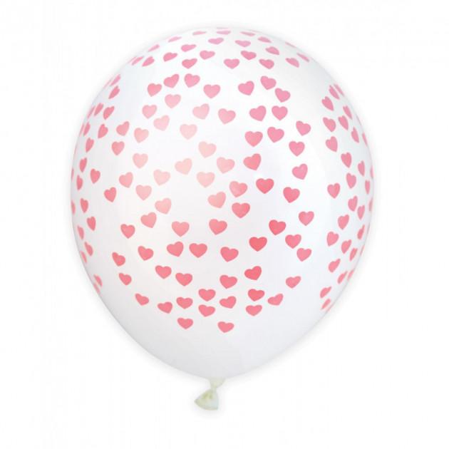 Ballon de Baudruche Coeur Rose (x6) Scrapcooking