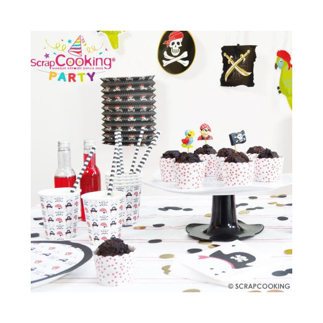 Bougies d'anniversaire Pirate (x15) Scrapcooking