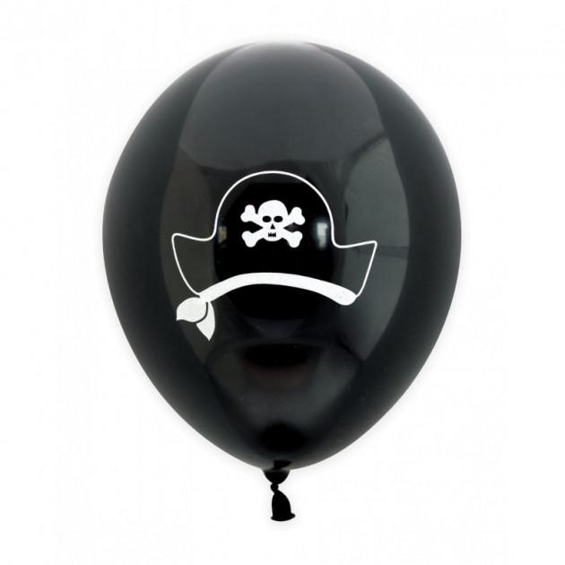 Ballon de Baudruche Pirate Noir (x6) Scrapcooking