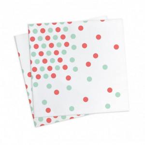 FIN DE SERIE Serviettes en Papier Confettis (x20) Scrapcooking