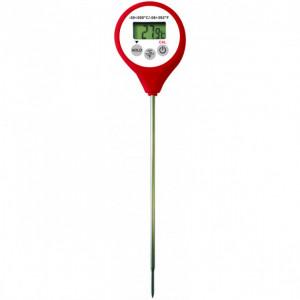 Thermomètre Digital étanche à sonde HACCP rouge -50°C à +200°C