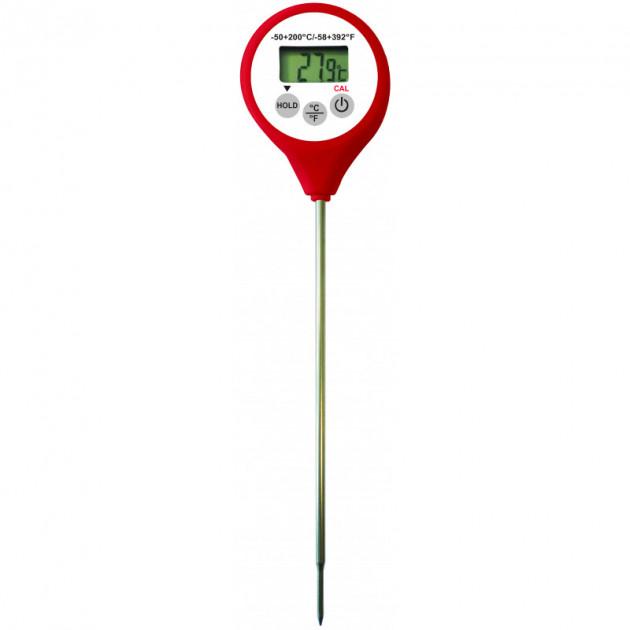 Thermometre Digital etanche a sonde HACCP rouge -50°C a +200°C