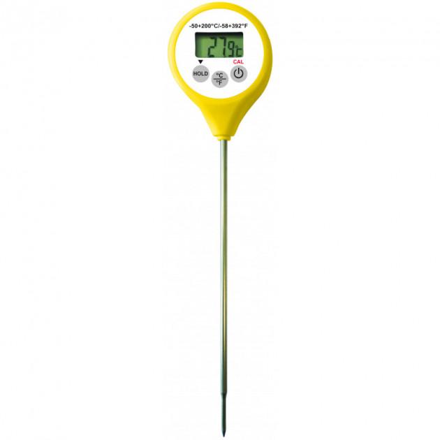Thermometre Digital etanche a sonde jaune -50°C a +200°C